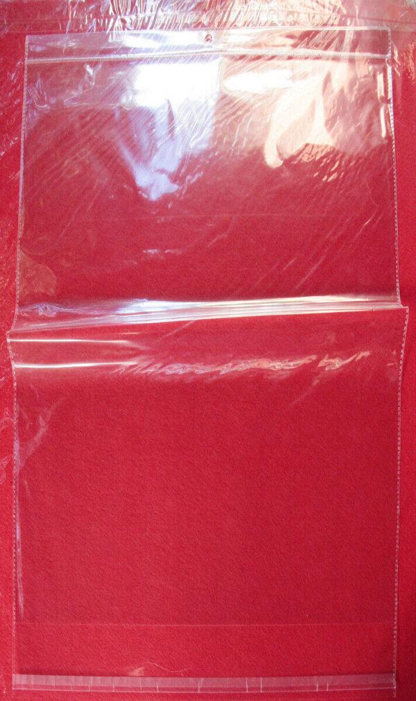 5 BUSTINE TRASPARENTI BUSTE ADESIVE PLASTICA 505 x 39 cm giganti bordo adesivo 293226282854