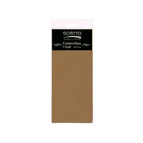 5 FOGLI di CARTA VELINA SCATTO 50X75 CM 17 GR colore marrone per fioristi 302412303334
