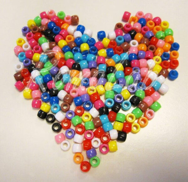 50 grammi di PERLE PERLINE 6x8 mm Pony Beads colori in mix assortiti foro largo 292838492064