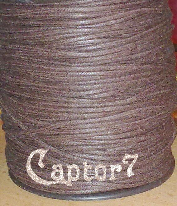 8 MT FILO COTONE CERATO MARRONE CORDONCINO 2 mm cordino CORDA RICAMBIO CIONDOLI 303793206514