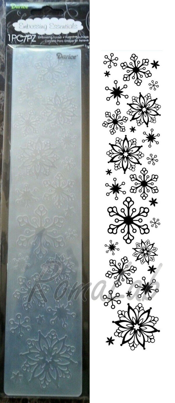 MASCHERINA Embossing folder bordi fiocchi di neve inverno per BIG SHOT plus 291740285594