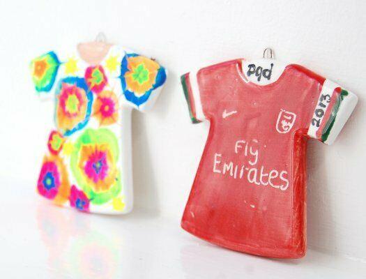 Maglietta a maniche corte da calcio in ceramica biscotto T Shirt Hanging Deco 303564142734