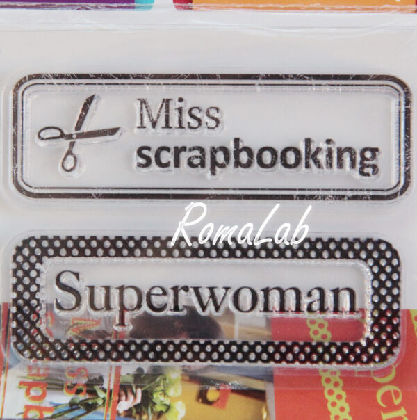 Mini Clear Miss Scrapbooking Stamp Set 291801112434