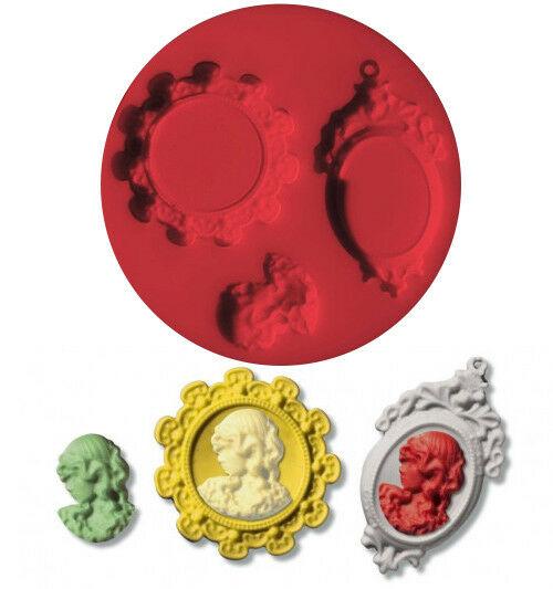 Piccolo stampo in silicone cameo formina medaglioni stampino fimo Staedtler 292414951724