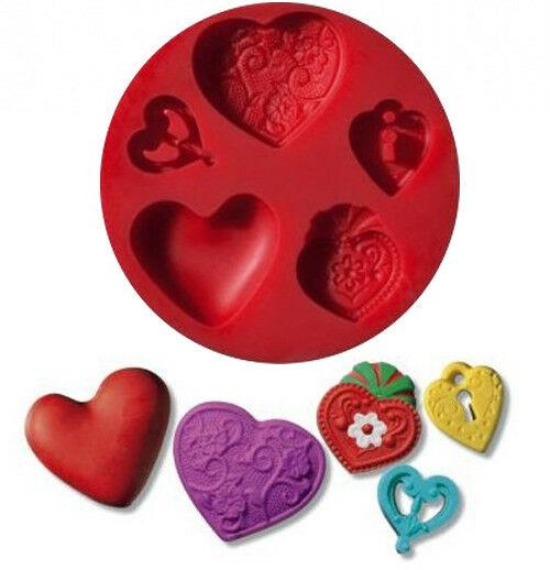 Piccolo stampo in silicone cuore formina cuoricini stampino fimo Staedtler 292414951704