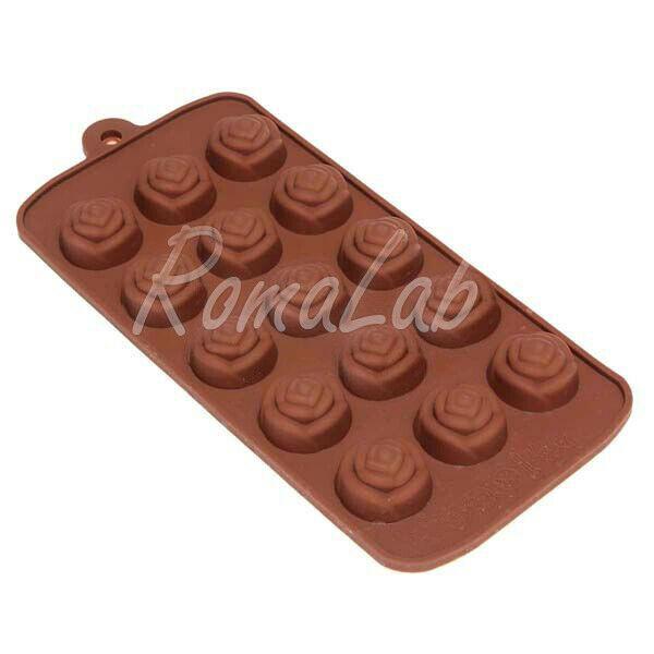 STAMPO IN SILICONE rosa rose per PRALINE CIOCCOLATA cioccolatini uso alimentare 303091650134