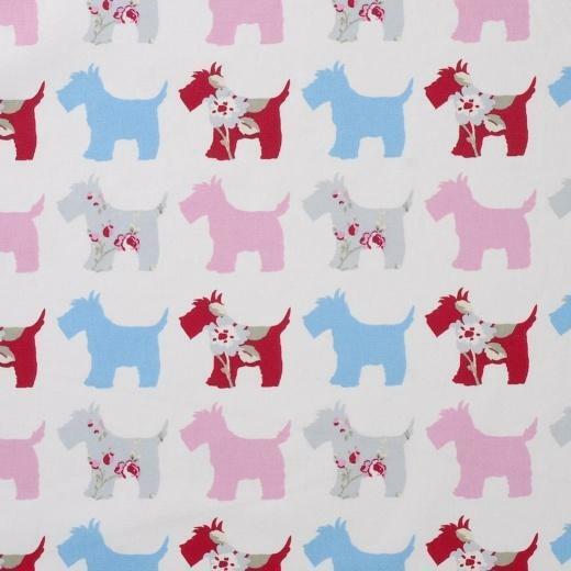 Scottie Dog tessuto cotone 50 x 137 cm cani Scottish Terrier cotton fabric 291808448084