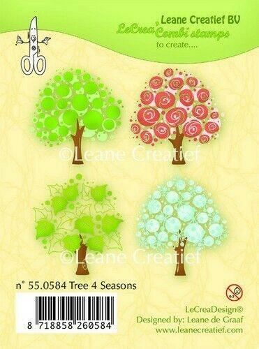 Set 6 TIMBRI alberi 4 stagioni clear stamp timbro Tree 4 seasons albero scrap 293046979384