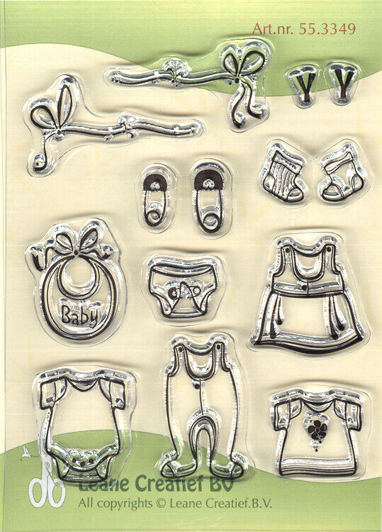 Set di 14 TIMBRI baby timbro cose da bambino spille clear stamp combi Baby Th 293018321624