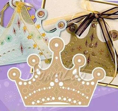 1 MASCHERINA da embossing e embroidery corona stencil RILIEVO CARTE E CARTONCINI 291811370965