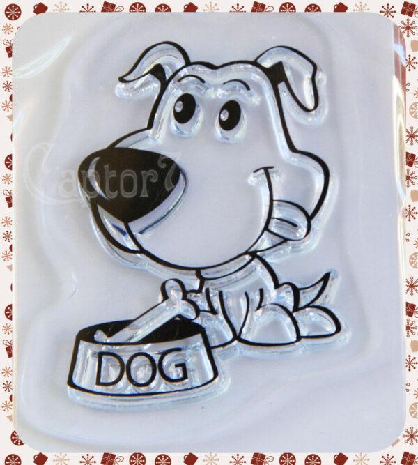 1 TIMBRO ACRILICO TRASPARENTE CANE CON CIOTOLA DOG SET SCRAPBOOKING Scooby Doo 290748369585