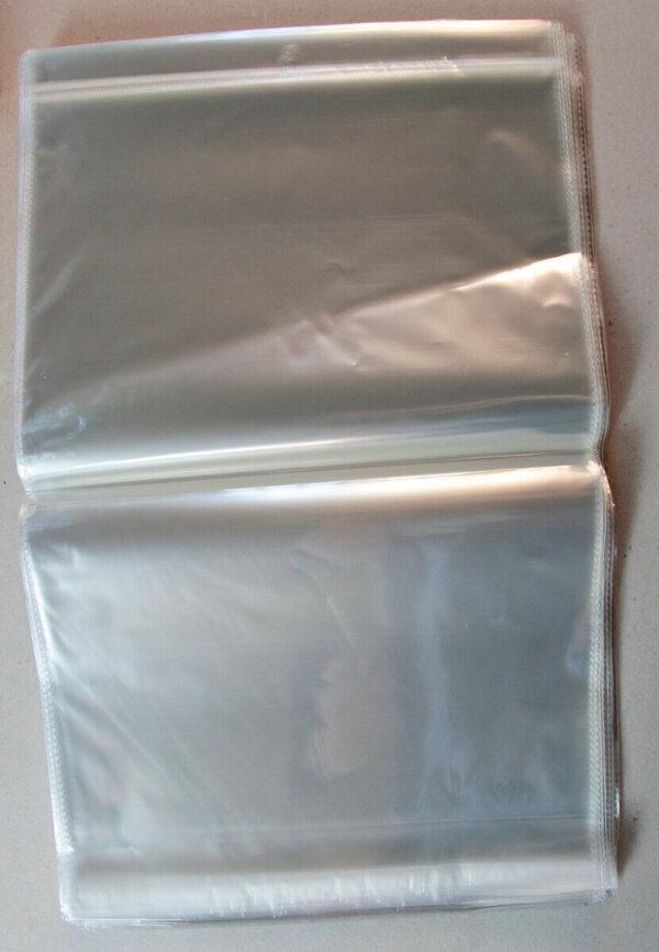 10 BUSTINE TRASPARENTI BUSTE ADESIVE in PLASTICA 43 x 29 cm con foro espositore 303285686325