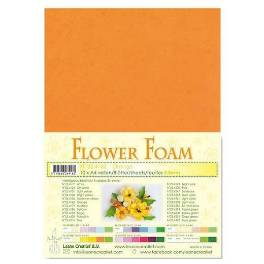 10 FOGLI di foamiran A4 arancione SPESSORE 08 mm MOOSGUMMI per fiori Foam fl 293070740085