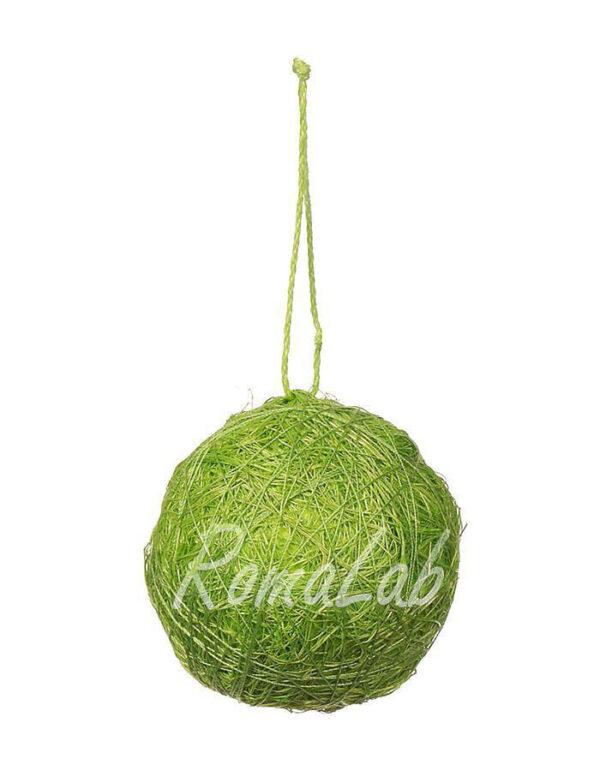 12 palle di corda sisal color verde 4 cm SFERE natalizie per albero DECORAZIONI 302002072035