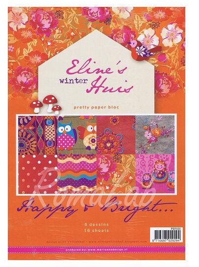 16 FOGLI STAMPATI A4 a tema Happy Bright con gufi e fiori x SCRAPBOOKING Paper 291811346445