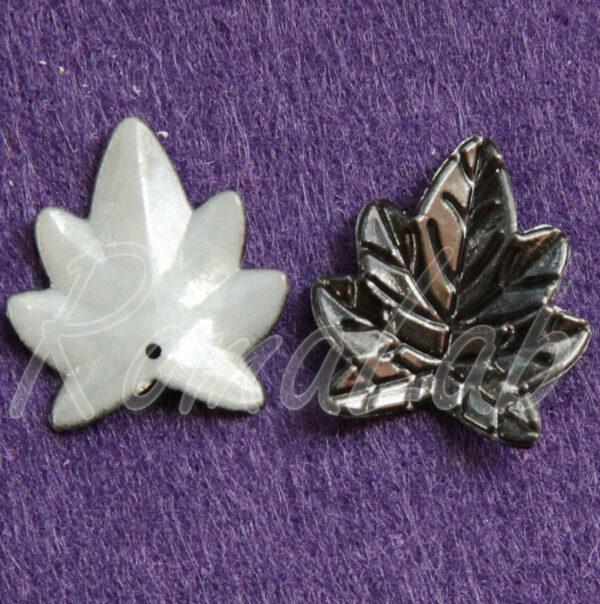 20 CHARMS foglie in acrilico nere CIONDOLI PENDENTI charm plastica natura 292655180935