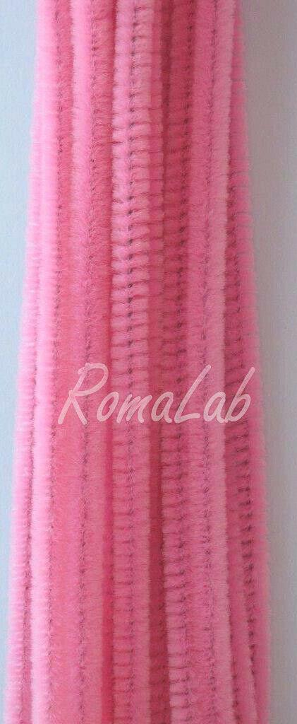 20 scovolini filo armato in ciniglia rosa 30 cm decorativi per creazioni 303073413395