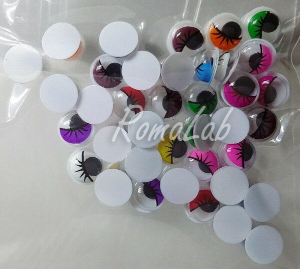 35 occhietti mobili colorati da 8 mm occhi per pupazzi miniature decorazioni 302592193865