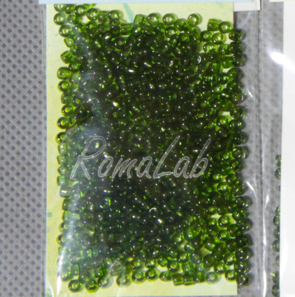 6 GRAMMI ROCAILLES VETRO 10 0 22 MM verde oliva per embroidery incastonare 291609798665
