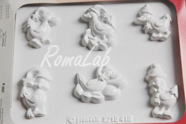 6 STAMPI OCHE NATALIZIE KNORR PRANDELL FORMINE MOLDS NATALE PAPERE stampo 291808110885