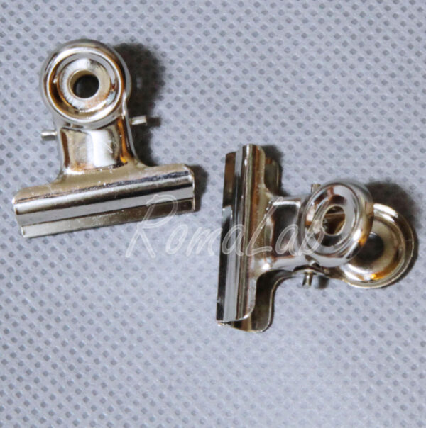 8 MOLLETTINE pinze fermacarta 21 mm PINZETTE clip in metallo A MOLLA Ferma carta 292290197035