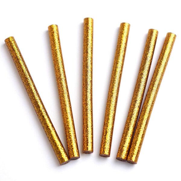8 stick di colla per pistola a caldo diametro 7 mm hot glue oro glitter dorato 302505084405