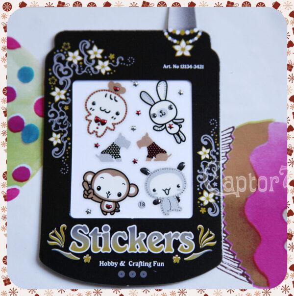 Adesivi stickers STELLE STELLINE ANIMALETTI KAWAII STILE GIAPPONESE SCRAPBOOKING 291811390515