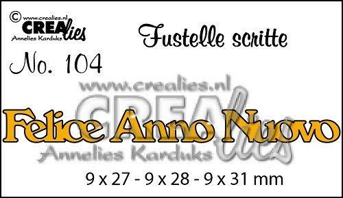 FUSTELLA Crealies scritta Felice Anno Nuovo compatibile con Big Shot scrapboo 302632145745