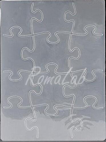 MASCHERINA Embossing FOLDER a forma di pezzi di puzzle rilievo x BIG SHOT Plus 301920704905