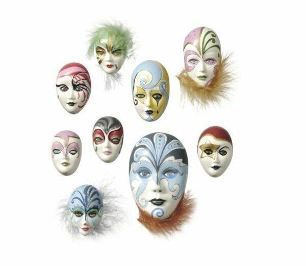 STAMPO CON 9 FORME mini maschere di Carnevale FORMINE DECORAZIONI natale 292688918845