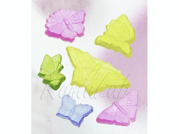STAMPO con 6 FORMINE farfalle e fiori MOLDS FORMINA STAMPO colate FORMINA STAMPI 301993222125