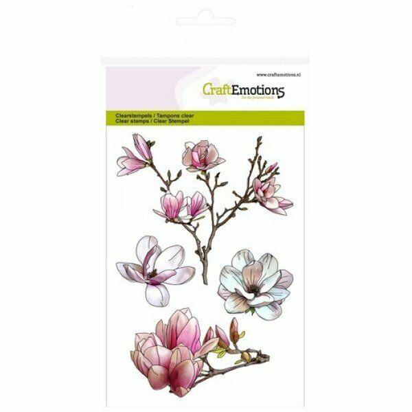Set 4 TIMBRI magnolia fiore fiori clear stamp timbro scrapbooking Spring Time A6 293715435545
