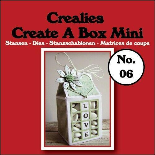 Set da 3 FUSTELLE Crealies Create a Box Mini busta del latte compatibili con 292736503705