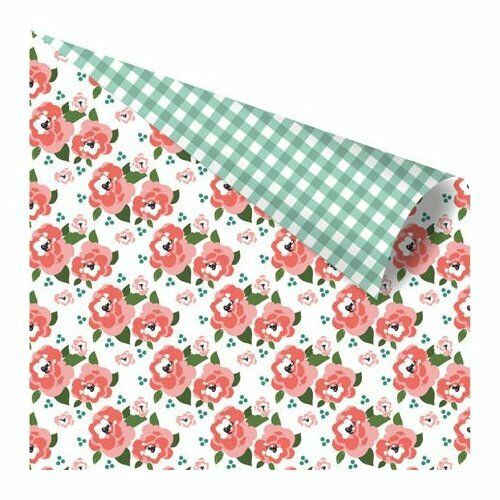 1 FOGLIO DI CARTA Yuki Collection by Ruby Violet Flower Bed 30 cm SCRAP scrap 291808458146