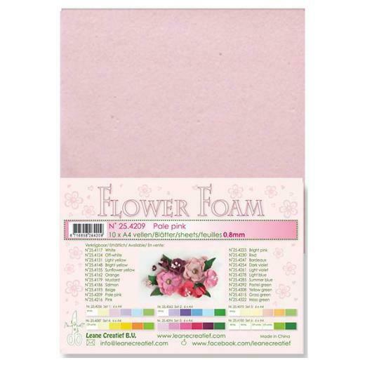 10 FOGLI di foamiran A4 rosa chiaro SPESSORE 08 mm MOOSGUMMI per fiori Foam 293070743146