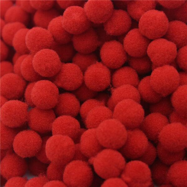 100 pom pom 10 mm ponpon rossi SCRAPBOOKING DECORAZIONI applicazioni BOMBONIERE 302873482406