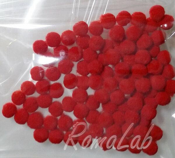 100 pom pom 8 mm ponpon rossi SCRAPBOOKING DECORAZIONI applicazioni BOMBONIERE 302609279566