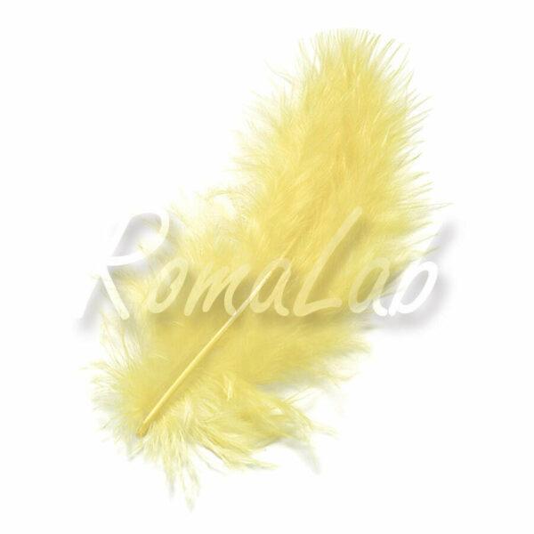 15 piume MARABU color giallo limone stile etnico burlesque penne gialle piuma 303102277756