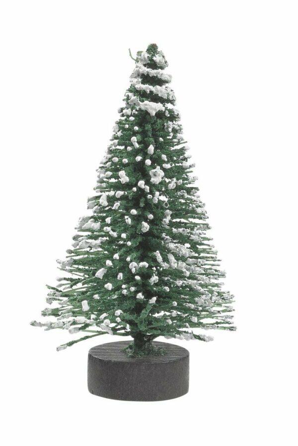 2 pezzi MINI ABETE INNEVATO 6 CM PRESEPE DIORAMI INVERNALI Natale neve miniature 293197579306