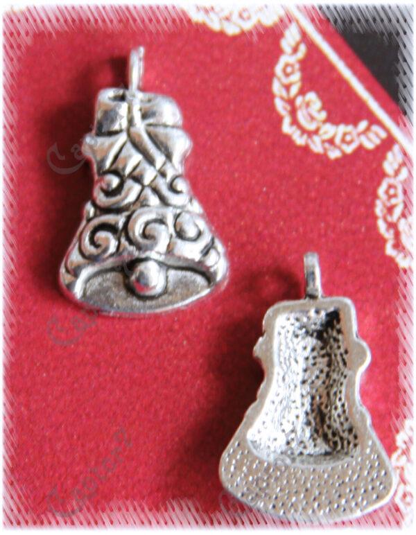 4 CHARMS CAMPANE in argento tibetano NATALE FESTA CIONDOLI PENDENTI BOMBONIERE 300710579696
