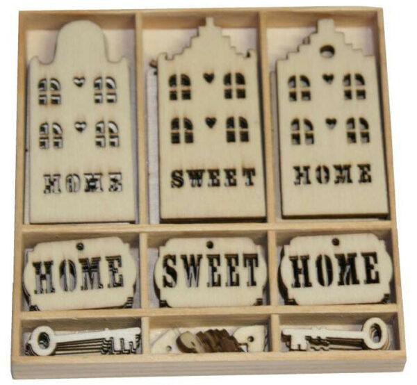 55 DECORAZIONI IN LEGNO ORNAMENTI SCRAPBOOKING HOME SWEET HOME CASA 292461109726