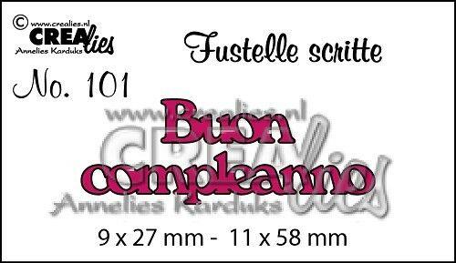 FUSTELLA Crealies scritta Buon compleanno compatibile con Big Shot scrapbooking 292736576956