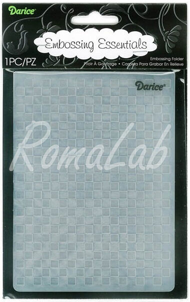 MASCHERINA Embossing FOLDER sfondo quadratini a rilievo per BIG SHOT Cuttlebug 291740278196
