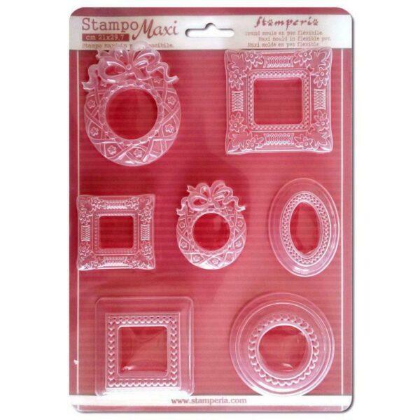 STAMPO maxi A TEMA cornicette cornici Stamperia FORMINE x gessetti Mould frames 303564891736