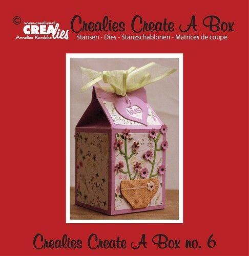 Set da 3 FUSTELLE Crealies Create a Box busta del latte compatibili con Big Shot 293211352986