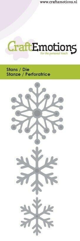 Set da 3 FUSTELLE fiocchi di neve compatibili con Big Shot snow crystals Die 292985206816