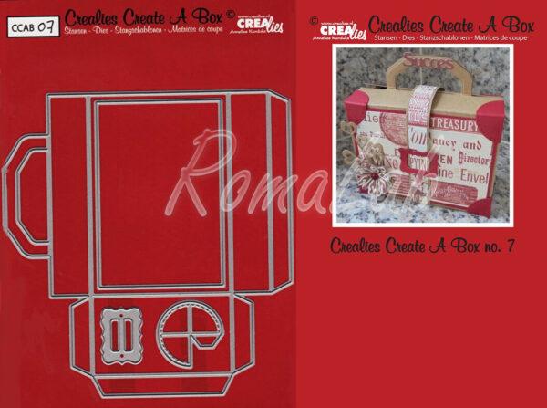Set da 4 FUSTELLE Crealies Create a Box valigetta compatibili con Big Shot 302372910086