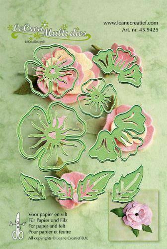 Set da 9 FUSTELLE fiori 3D dies compatibili con Big Shot fiore fustella Flowe 293576421296