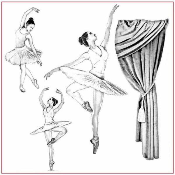 Tovagliolo Silhouette Art 50 x 50 cm Ballerina IN CARTA DI RISO per decoupage 292956240136