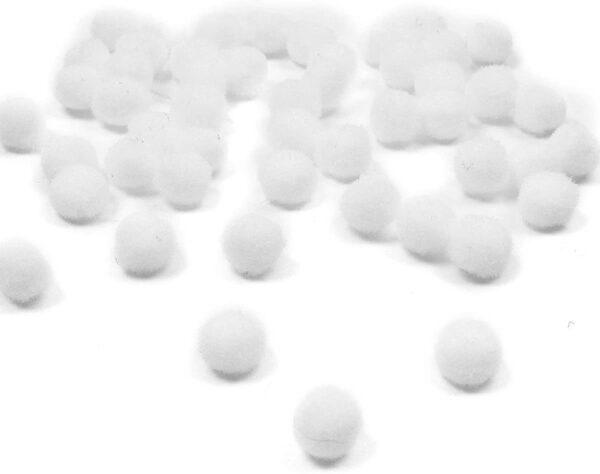 60 pom pom 15 mm ponpon bianchi SCRAPBOOKING DECORAZIONI applicazioni BOMBONIERE B0773ZDNF2